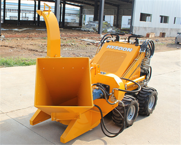 HY380 Mini Skid Steer Loader with Wood Chipper